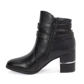Bota Comfortflex Ankle Boots Feminino Preta