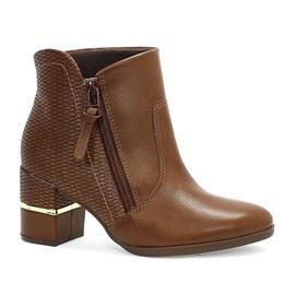 Bota Comfortflex Ankle Boots Vest Vegetal Feminino Marrom
