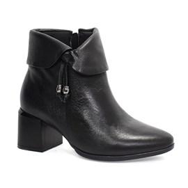Bota Comfortflex Vest Ankle Boots Feminina Preta