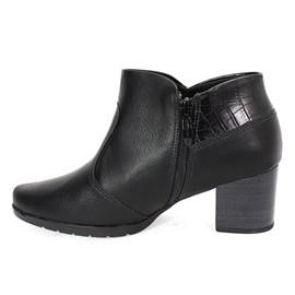 Bota Piccadilly Ankle Boot Feminina Preta