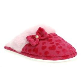 Chinelo Feminino De Lã Coração Katurê Rosa