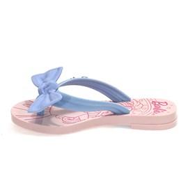 Chinelo Grendene Kids Barbie Charme Menina Rosa e Azul