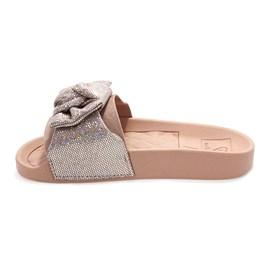 Chinelo Molekinha Slide Glitter Menina Rosa