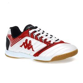 Chuteira Kappa Bryce Futsal Masculina Branco e Vermelho