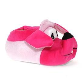 Pantufa Pé Quentinho Cachorro Feminino Rosa