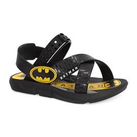 Sandália Batman Carro Menino Preto