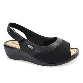 Sandália Comfortflex Tecido Feminina Preta