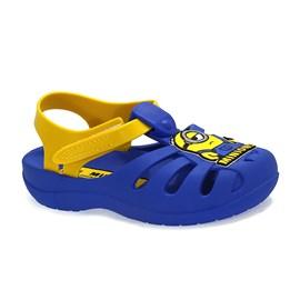 Sandália Grandene Kids Minions Hello Menino Azul e Amarelo