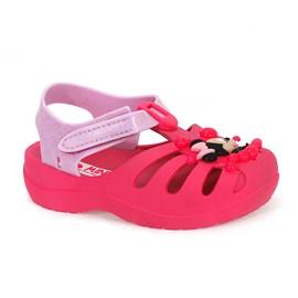 Sandália Grendene Kids Disney Sunny Menina Rosa Neon