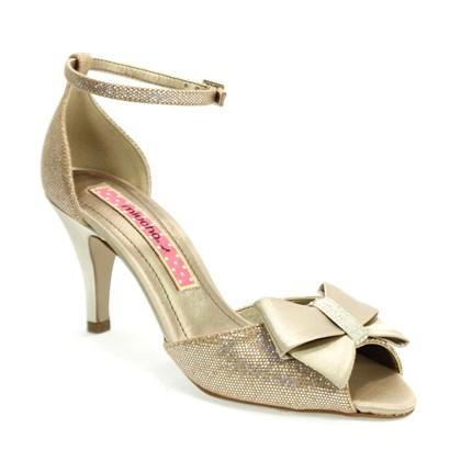 Sandália Miucha Laço Champagne Feminina Dourada