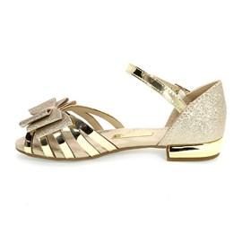 Sandália Molekinha Glamour Glitter Menina Dourado