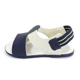 Sandália Pimpolho Menino Azul e Branco
