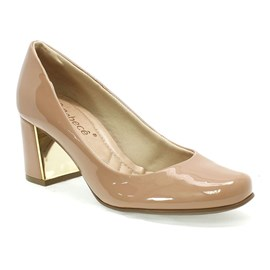 Sapato Bebecê Amarilis Feminino Ice Coff Nude