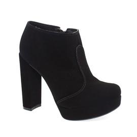 Sapato Bebecê Ankle Boot Nobuck Feminino Preto