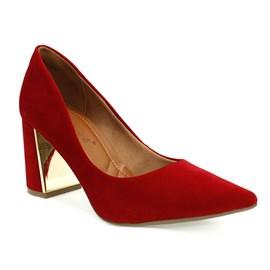 Sapato Bebecê Bico fino Feminino Vermelho