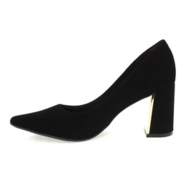 Sapato Bebecê Bico fino Palatino Feminino Preto
