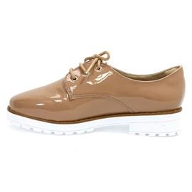 Sapato Bebecê Com Cadarço Feminino Iced Coffee