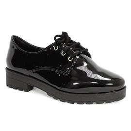 Sapato Bebecê Com Cadarço Feminino Preto