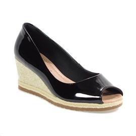 Sapato Bebecê Peep Toe Feminino Preto