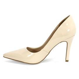 Sapato Bebecê Scarpin Bico Fino Feminino Nude