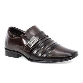 Sapato Bertelli Social Preto Marrom