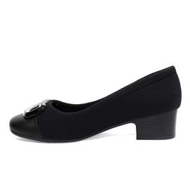Sapato Comfortflex Napa Vest Plus Feminino Preto