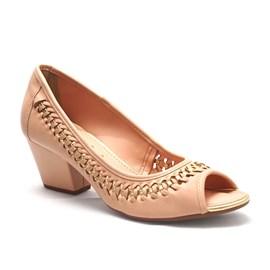 Sapato Dakota Peep Toe Florencia Feminino Bege