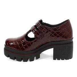 Sapato Dakota Salto Bloco Feminino Bordô
