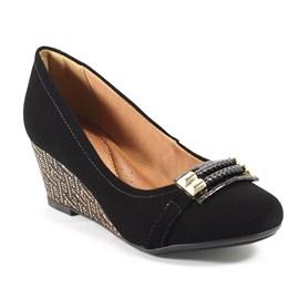 Sapato Dmoon Anabela Feminino Preto