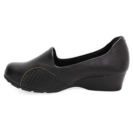 Sapato Modare Anabela Ultra Conforto Feminino Preto