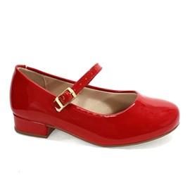 Sapato Molekinha Boneca Menina Vermelha