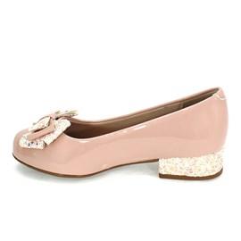Sapato Molekinha Laço Glitter Menina Rosa