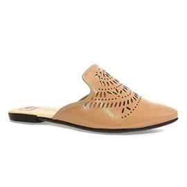Sapato Mule Moleca Glam Verniz Feminino Nude
