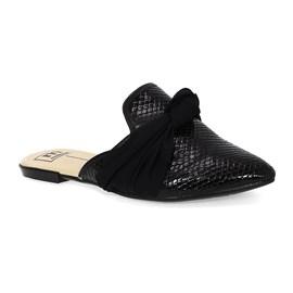 Sapato Mule Moleca Gloss Neo Feminino Preto