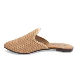 Sapato Mule Moleca Napa tresse Feminino Nude
