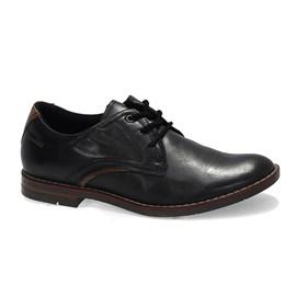 Sapato Pegada Social Stretch Com Cadarço Masculino Preto