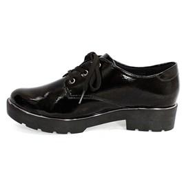 Sapato Quiz Cadarço Feminino Preto