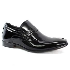 Sapato Rafarillo Couro Brilhoso Masculino Preto