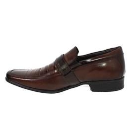 Sapato Rafarillo Couro Verniz Masculino Marrom