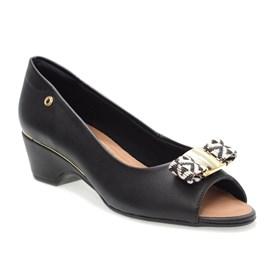 Sapato Santinelli Peep-Toe Trançado Feminino Preto
