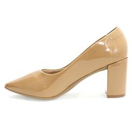 Sapato Santinelli Salto Grosso Feminino Nude