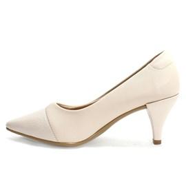 Sapato Santinelli Scarpin Feminino Creme