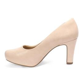 Sapato Scarpin Ramarim Napa Plus Feminino Nude