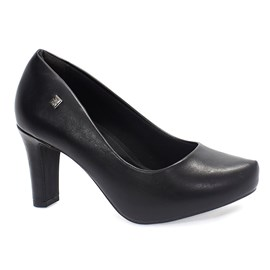 Sapato Scarpin Ramarim Napa Plus Feminino Preto