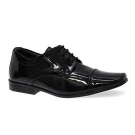Sapato Social Bertelli Cadarço Menino Preto