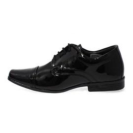 Sapato Social Verniz Menino Preto