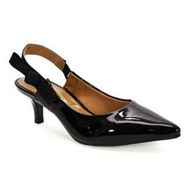 Sapato Vizzano Bico Fino Glamour Feminino Preto