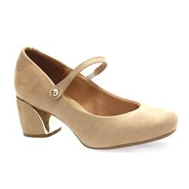 Sapato Vizzano Camurça Feminino Bege