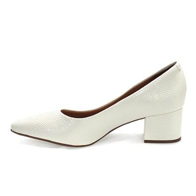 Sapato Vizzano Glaumor Social Salto Bloco Feminino Branco