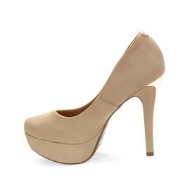 Sapato Vizzano Nobuck Glamour Feminino Nude